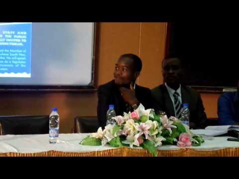 Cde Chinotimba at University of Zimbabwe 2