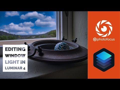 Editing window light in Luminar 4