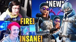 """Streamers React to the *NEW* """"ARTICA"""" & SNOW PATROLLER"""" Skins! 