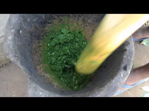 How to cook traditional Cassava Leaf Soup recipe in Monrovia, Liberia