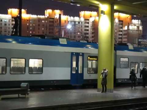 ...как объявляют поезда на вокзале в Минске (январь, 2015)...