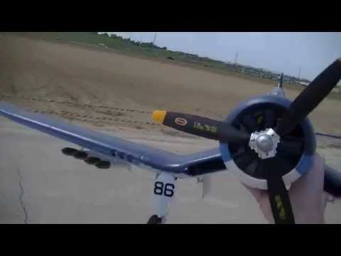 F4U Corsair Flight, Just a Nice day to Fly Go Motion RC!