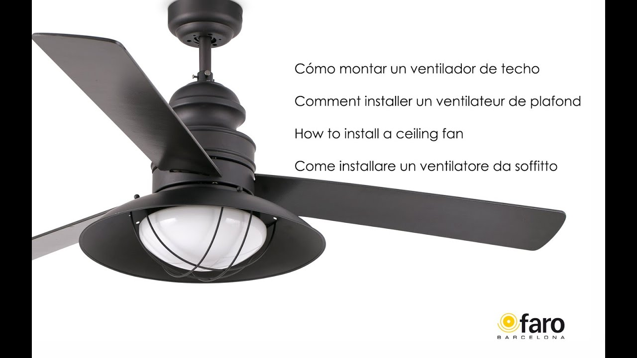 Cmo instalar un ventilador de techo how to install a ceiling fan cmo instalar un ventilador de techo how to install a ceiling fan youtube aloadofball Gallery