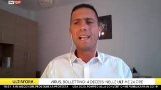 25 agosto 2020 - Dati e analisi emergenza coronavirus per Sky Tg24 a cura di Giorgio Sestili
