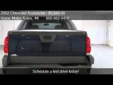 2002 chevrolet avalanche z 71 4x4 4 door for sale in for Voice motors kalkaska michigan
