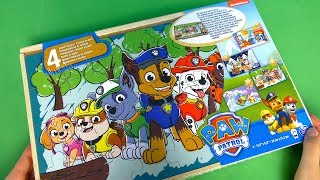 PAW Patrol 4 Wooden Puzzles Set. We Collect