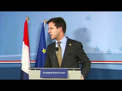 Mark Rutte, Prime MInister of the Netherlands - Press conference at EU summit, Dec. 2010