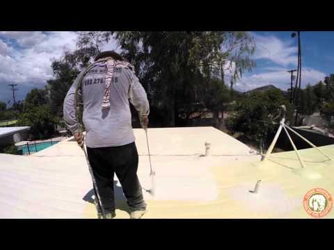 Lyons Roofing:  Polyurethane Foam Roof installation
