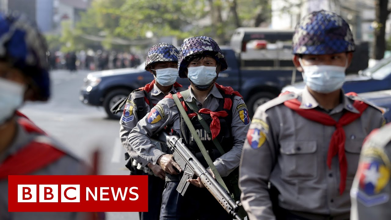 Myanmar's military warns protesters could face prison - BBC News - YouTube