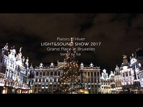 LIGHT & SOUND SHOW 2017 - Grand Place in Bruxelles - 4K Video