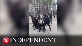 Black Lives Matter protesters in violent confrontations with Miami police
