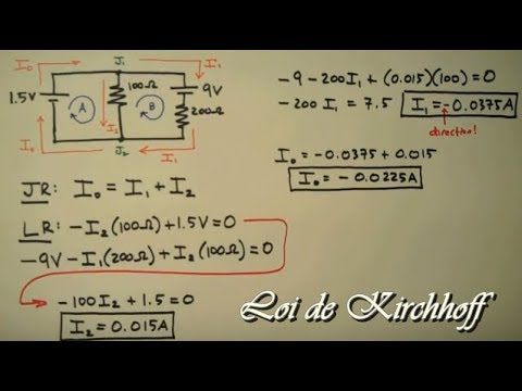Lois de Kirchhoff + Exemples Corrigés ( Facile à Comprendre )