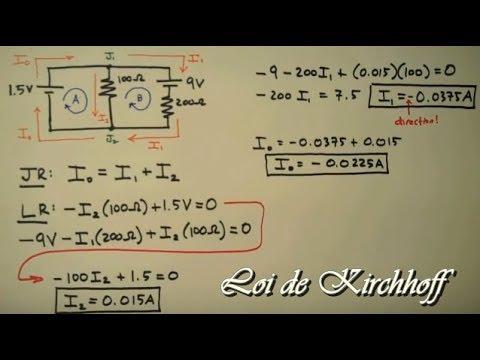 Lois De Kirchhoff Exemples Corriges Facile A Comprendre Youtube