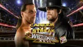 "WWE WrestleMania 26 Match Card promo ""i made it"" (HD)."