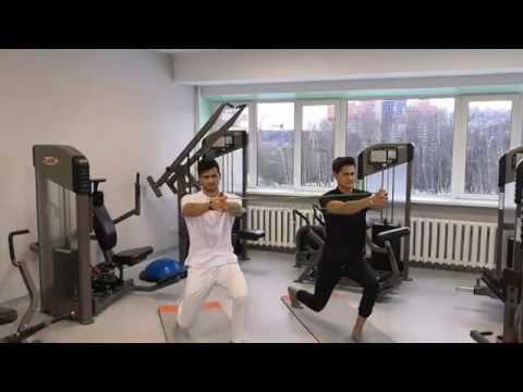 Комплекс упражнений для укрепления мышц КОРА для выполнения в паре