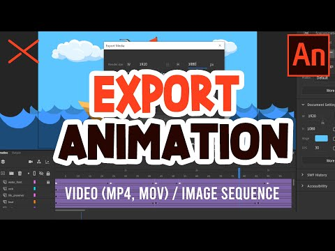 How To EXPORT Animations from Adobe Animate CC to Video Files (mp4)