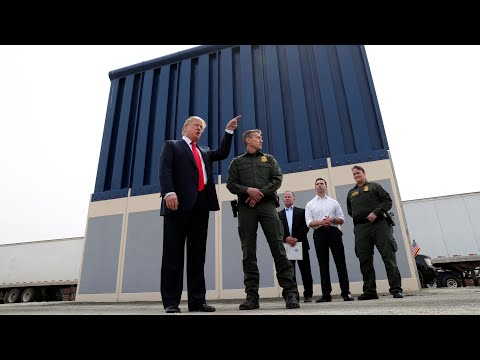 Trump examines border wall prototypes in California