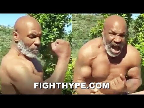 """(WOW!) MIKE TYSON FLEXES RIPPED PHYSIQUE AT 53; DISPLAYS HAND SPEED AND REPEATS """"I MIGHT COME BACK"""""""