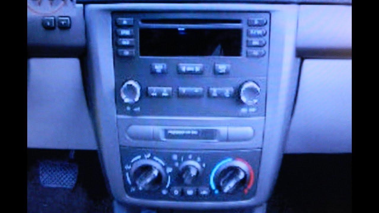 Chevrolet Cobalt Radio Removal