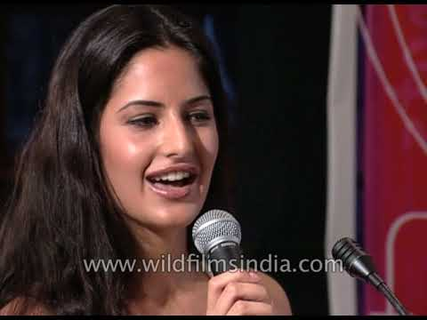 Katrina Kaif - debut Bollywood movie 'Boom' press conference