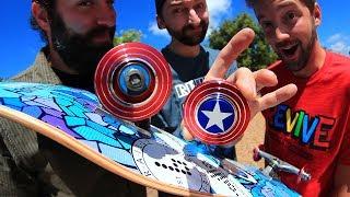 CAPTAIN AMERICA FIDGET SPINNER WHEELS! thumbnail