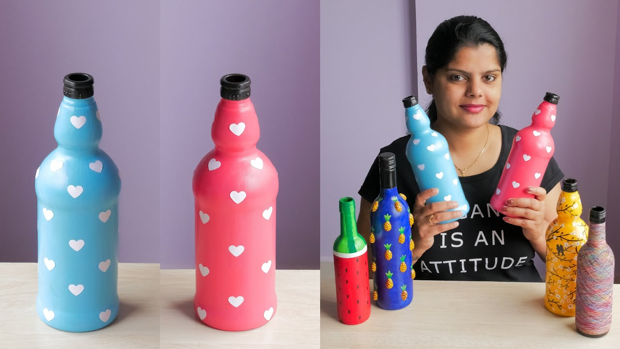 Simple Bottle Art For Beginners Very Easy Youtube The bright pops of color on the labels lend to the design nicely, bringing a bit more of a modern twist to the package. simple bottle art for beginners very easy