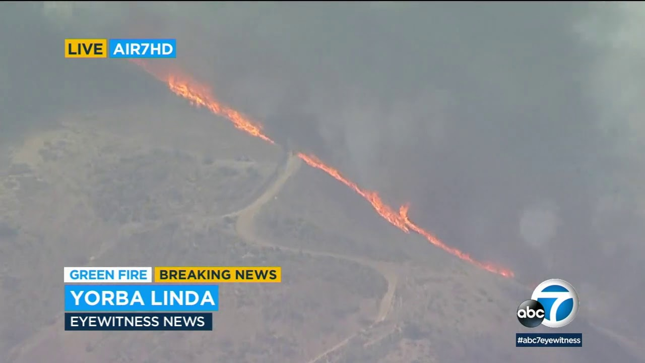 Blue Ridge Fire Spreads Quickly in the Yorba Linda Area