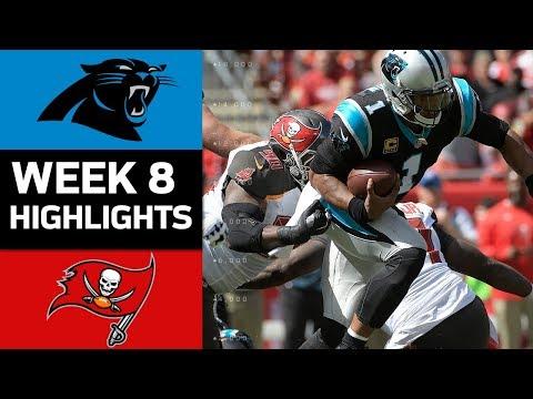 Panthers vs. Buccaneers | NFL Week 8 Game Highlights