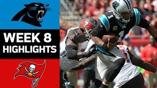 Panthers vs. Buccaneers | NFL Week 8 Game Highlights