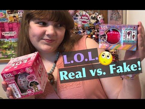 L.O.L. Surprise FAKE LOL Sparkle Series & Bigger Surprise Dolls Unboxing & Comparison – Real vs Fake