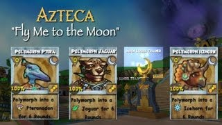 This Video Previously Contained A Copyrighted Audio Track. Due To A Claim By A Copyright Holder, The Audio Track Has Been Muted.     Wizard101 Azteca Moon School Obelisk Quest