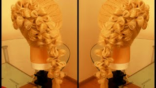 Причёска с бантиками. Видео-урок. hair tutorial