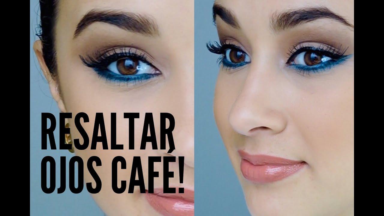 Resultado de imagen para maquillaje para ojos cafe