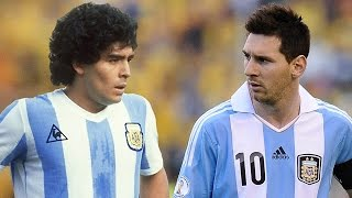 Maradona vs Messi Best Goals Ever Who Is The Best HD