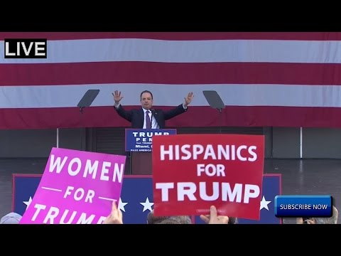 Chairman of the Republican National Committee REINCE PRIEBUS SPEAKS at Trump Rally in MIAMI FLORIDA