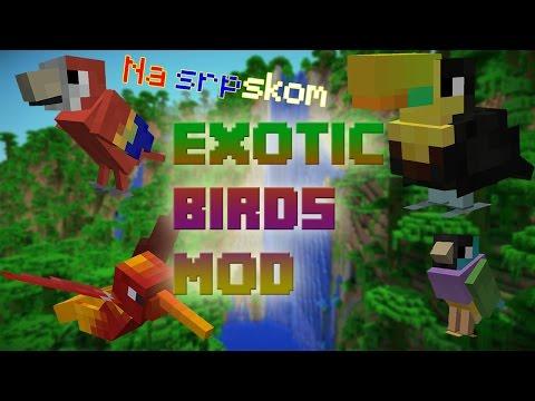 Minecraft Mod Review - Exotic Birds Mod (Na srpskom)