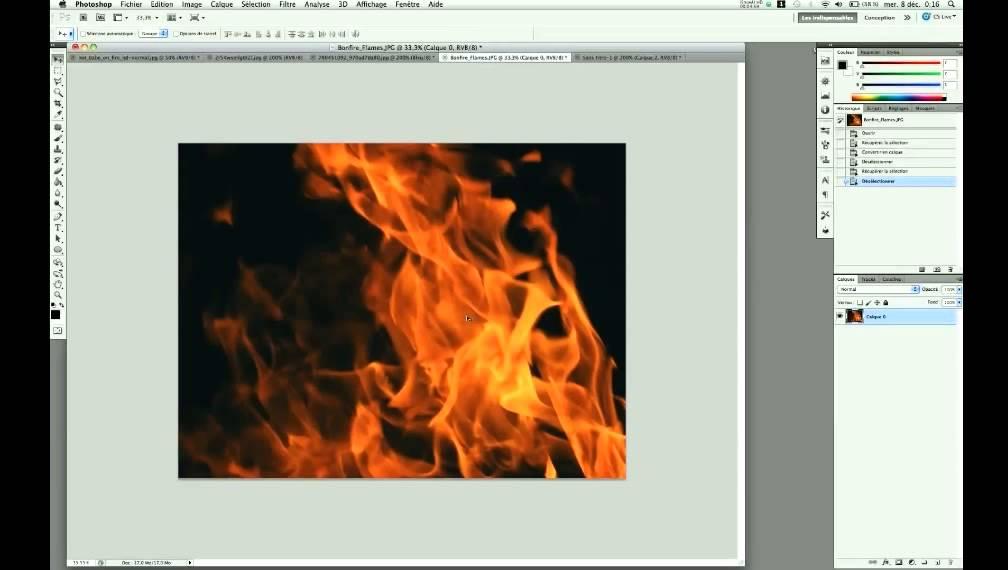 Photoshop Detourer Facilement Du Feu Ou De La Fumee Youtube