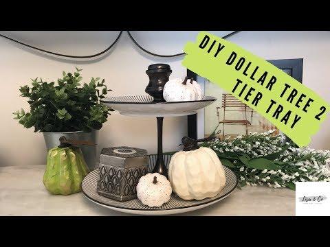DIY Dollar Tree 2 Tier Tray