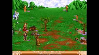Heroes of Might and Magic II: The Succession War  (MS-DOS) Intro und Gameplay