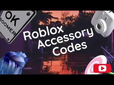 Roblox Accessory Codes Youtube