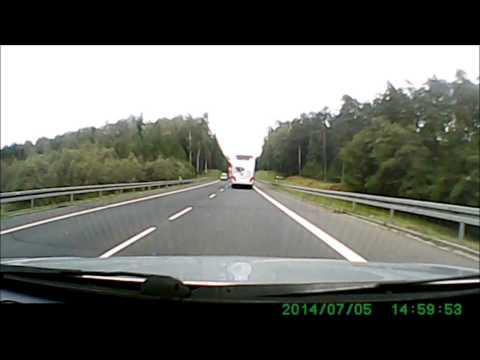 Zimna krew kierowcy autobusu SINDBAD- trasa Ostróda-Olsztyn.