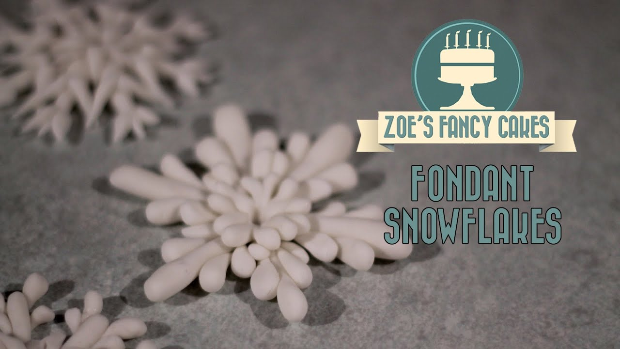 Fondant Snowflake Cake Topper Modelling Paste How To Cake