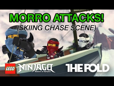 LEGO NINJAGO Skiing Chase Scene, Episode 50