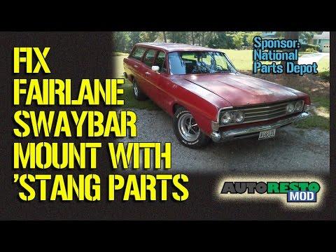 Fix Broken Fairlane Mustang Swaybar Mounts Episode 199 Autorestomod