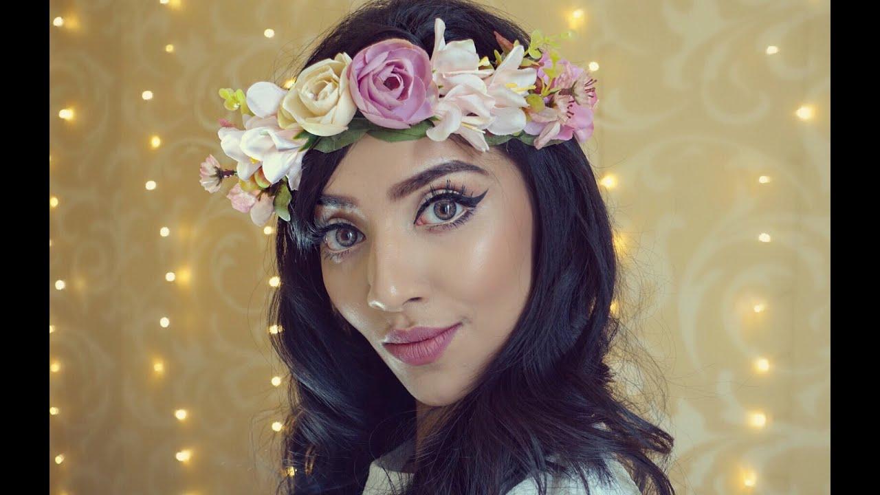 Snapchat flower crown tutorial youtube izmirmasajfo