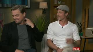 Once Upon a Time in Hollywood Brad Pitt & Leonard DiCaprio interview