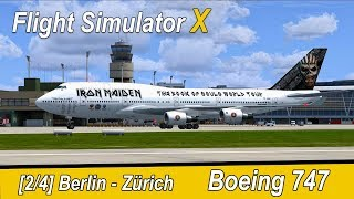 Microsoft Flight Simulator X Teil 1007 Berlin -  Zürich   Ed Force One   Liongamer1