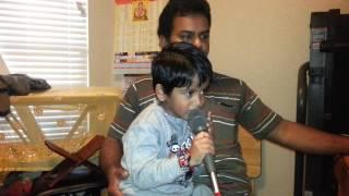 Hum tere bin ab raha nahi by 4 year old karaoke