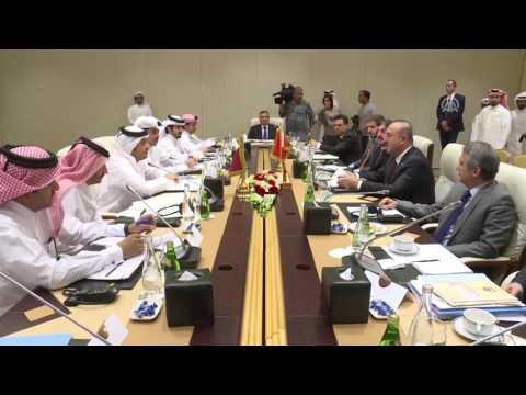 Dışişleri bakanı Mevlüt Çavuşoğlu Katar'da