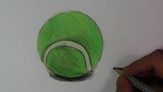 Realistic Tennis Ball (Speed Drawing)